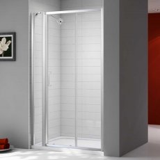 Merlyn Ionic Express Sliding Shower Door and Inline Panel, 1640mm-1700mm Wide, 6mm Glass