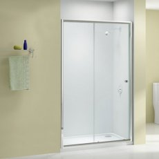 Merlyn Ionic Source Sliding Shower Door 1100mm Wide - 6mm Glass