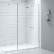 Merlyn Ionic Wet Room Glass Shower Panel 1600mm W - 8mm Glass