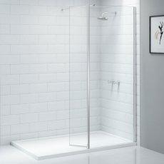 Merlyn Ionic Wet Room Swivel Return Panel, 300mm Wide - 8mm Glass