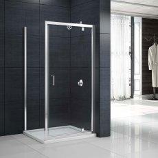 Merlyn Mbox Pivot Shower Door 1000mm - 6mm Clear Glass