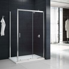 Merlyn Mbox Sliding Shower Door 1100mm Wide - 6mm Clear Glass