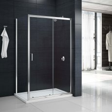 Merlyn Mbox Sliding Shower Door 1600mm Wide - 6mm Clear Glass
