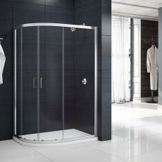 Merlyn Mbox Double Offset Quadrant Shower Enclosure 900mm x 760mm - 6mm Glass