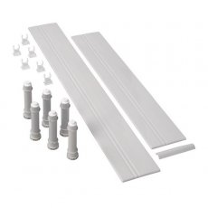 Mira Flight Offset Quadrant Riser Conversion Kit Flush Fit 1200mm - White
