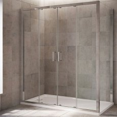 Mira Leap Double Sliding Shower Door, 1700mm Wide, 6mm Glass