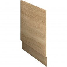 Nuie Athena Bath End Panel 560mm H x 800mm W - Natural Oak