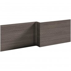Nuie Athena Square Shower Bath Front Panel 520mm H x 1700mm W - Brown Grey Avola