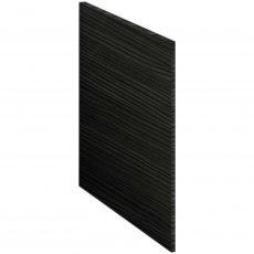 Nuie Athena Square Shower Bath End Panel 520mm H x 700mm W - Hacienda Black