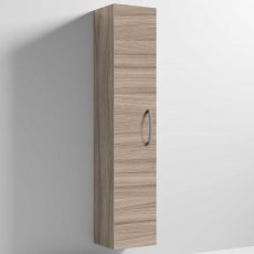 Nuie Athena Wall Hung 1-Door Tall Unit 300mm Wide - Driftwood