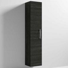 Nuie Athena Wall Hung 1-Door Tall Unit 300mm Wide - Hacienda Black