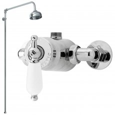 Nuie Beaumont Sequential Concealed or Exposed Mixer Shower with Fixed Head