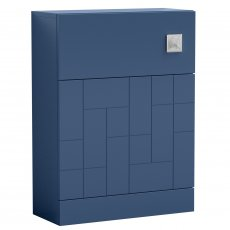 Nuie Blocks Back to Wall WC Unit 600mm Wide - Satin Blue