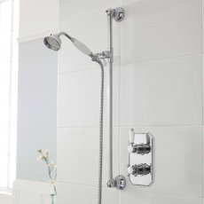 Nuie Edwardian Concealed Shower Mixer with Slider Rail Kit - Chrome