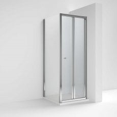 Nuie Ella Bi-Fold Shower Enclosure 900mm x 900mm with Shower Tray - 5mm Glass