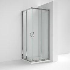 Nuie Ella Corner Entry Shower Enclosure 800mm x 800mm - 5mm Glass