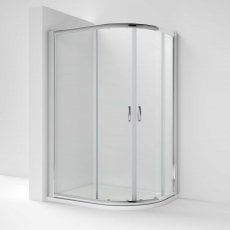 Nuie Ella Offset Quadrant Shower Enclosure 1200mm x 900mm with Shower Tray RH - 5mm Glass