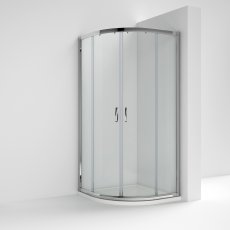 Nuie Ella Quadrant Shower Enclosure 800mm x 800mm with Shower Tray - 5mm Glass