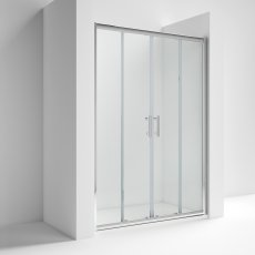 Nuie Pacific Double Sliding Shower Door 1700mm Wide - 6mm Glass