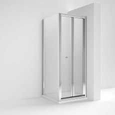 Nuie Pacific Bi-Fold Shower Enclosure 900mm x 900mm with Shower Tray - 4mm Glass