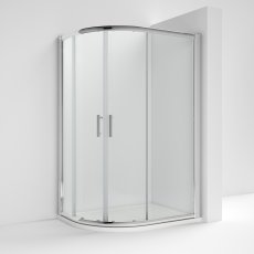 Nuie Pacific Offset Quadrant Shower Enclosure 1000mm x 800mm with Shower Tray LH - 6mm Glass