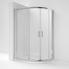 Nuie Pacific Offset Quadrant Shower Enclosure 1000mm x 900mm with Shower Tray RH - 6mm Glass