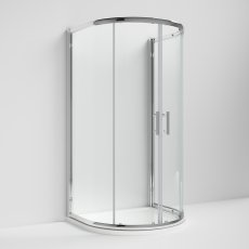 Nuie Pacific D-Shaped Shower Enclosure 1050mm x 900mm - 6mm Glass