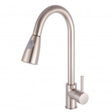 Nuie Kitchen Sink Mixer Tap Pull-Out Spray - Brushed Steel