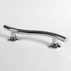 Nymas Contemporary Nylon Flanged Curved Grab Rail 620mm Length - Polished