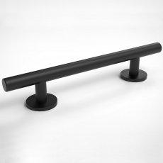 Nymas Luxury Straight Stainless Steel Grab Rail 355mm Wide - Matt Black