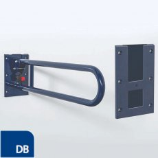 Nymas Stainless Steel Removable Hinged Grab Rail 800mm Length - Dark Blue