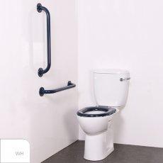 Nymas Nyma PRO Close Coupled Toilet Doc M Pack White - 2 x White Grab Rails