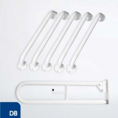 Nymas NymaPRO Exposed Fixing Grab Rails for Doc M Toilet Pack - Dark Blue