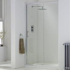 Orbit A6 Sliding Shower Door 1100mm Wide - 6mm Glass