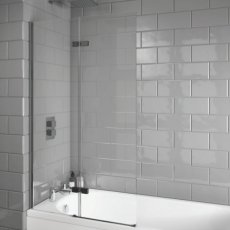 Orbit A8 Straight Hinged Bath Screen 1500mm High x 900mm Wide - 8mm Glass