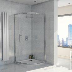 Orbit A8 Single Door Offset Quadrant Shower Enclosure 1000mm x 800mm - 8mm Glass