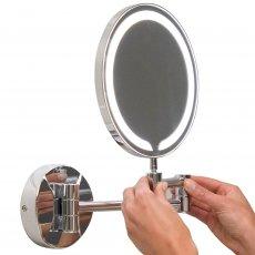 Orbit Round Wall Hung LED Makeup Bathroom Mirror 200mm Diameter