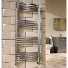 Orbit Chromo Straight Heated Towel Rail 1600mm H x 500mm W - Chrome