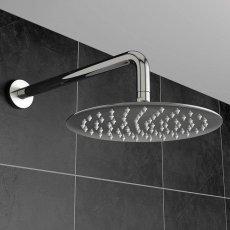 Orbit Round Fixed Shower Head 400mm Diameter - Stainless Steel