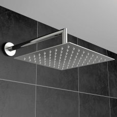 Orbit Square Fixed Shower Head 200mm x 200mm - Stainless Steel