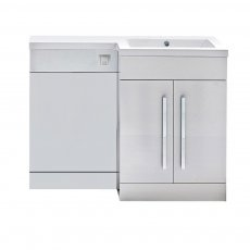 Orbit Life RH Combination Unit with Sculptured Basin 1100mm Wide - Gloss White