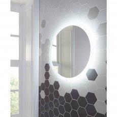Orbit Lunar LED Bathroom Mirror with Demister Pad 800mm Diameter