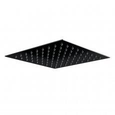 Orbit Noire Square Fixed Shower Head 200mm x 200mm - Stainless Steel/Matt Black
