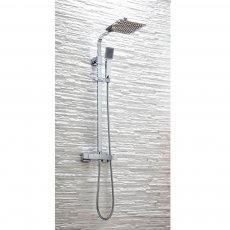 Orbit Squaro Bar Mixer Shower with Shower Kit and Fixed Head - Chrome