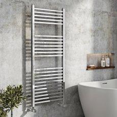 Orbit Squaro Designer Heated Towel Rail 1200mm H x 500mm W - Chrome