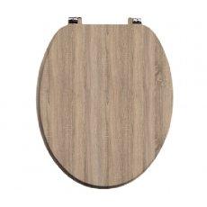 Orbit Vinyl Wrap MDF Soft Close Toilet Seat with Top Fix - Driftwood