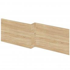 Premier Athena Square Shower Bath Front Panel 520mm H x 1700mm W - Natural Oak