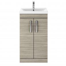 Premier Athena Floor Standing 2-Door Vanity Unit with Basin-3 500mm Wide - Driftwood