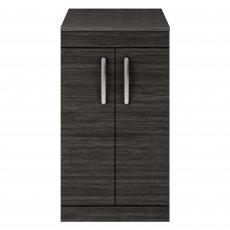 Premier Athena Floor Standing 2-Door Vanity Unit and Worktop 500mm Wide - Hacienda Black