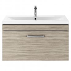 Premier Athena Wall Hung 1-Drawer Vanity Unit with Basin 1 Driftwood - 800mm Wide